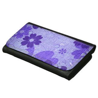 Vintage púrpura de moda de la flor