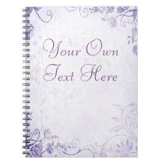 Vintage púrpura elegante cuaderno