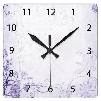Vintage púrpura elegante reloj