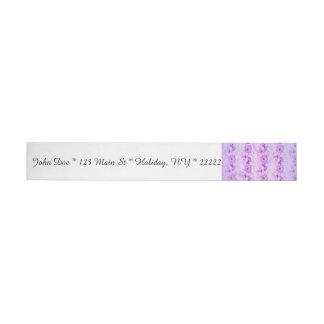 Vintage púrpura esperanzado floral pegatinas postales