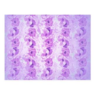 Vintage púrpura esperanzado floral tarjetas postales
