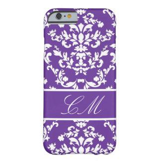 Vintage púrpura Marie del damasco #3 @ con el Funda De iPhone 6 Barely There