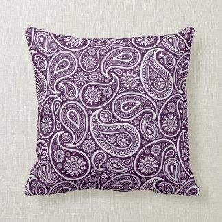 Vintage púrpura y blanco Paisley floral de Geep Almohadas