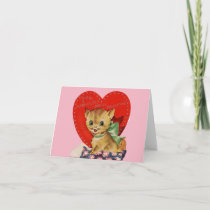 Vintage Purr-Fectly Swell Valentine Card