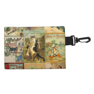 Vintage Puss in Boots Christmas Montage Accessory Bag