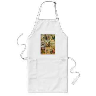Vintage Puss in Boots Christmas Montage Long Apron
