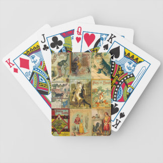 Vintage Puss in Boots Christmas Montage Bicycle Playing Cards