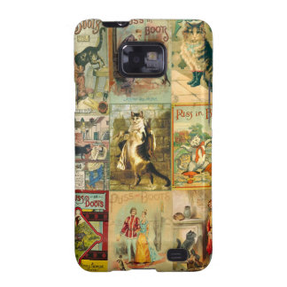 Vintage Puss in Boots Christmas Montage Galaxy SII Cover