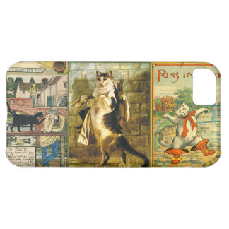 Vintage Puss in Boots Christmas Montage iPhone 5C Case