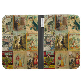 Vintage Puss in Boots Christmas Montage Case For The Kindle