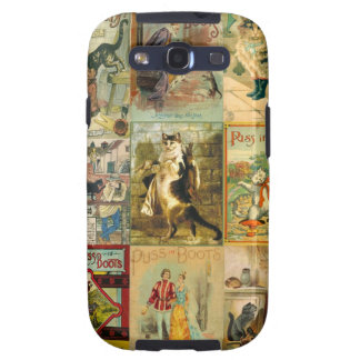 Vintage Puss in Boots Christmas Montage Galaxy SIII Case