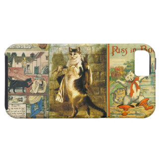 Vintage Puss in Boots Christmas Montage iPhone 5 Covers