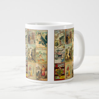 Vintage Puss in Boots Christmas Montage Large Coffee Mug