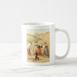 Vintage Puss in Boots Fairy Tale Illustration Coffee Mug