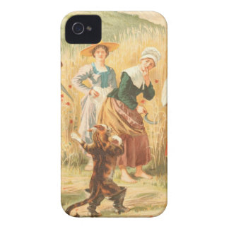 Vintage Puss in Boots Fairy Tale Illustration iPhone 4 Case