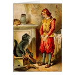 Vintage Puss in Boots with Boots Greeting Card