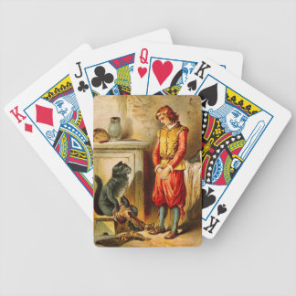 Vintage Puss in Boots with Boots Poker Deck