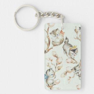 Vintage Pussy Willow Keyring Keychain