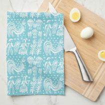 Vintage Pyrex Pattern - Amish Butterprint (White) Hand Towel