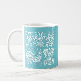 Vintage Pyrex Pattern - Butterprint White Coffee Mug