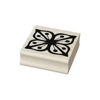Vintage Pyrex Pattern - Verde Square Flower Rubber Stamp