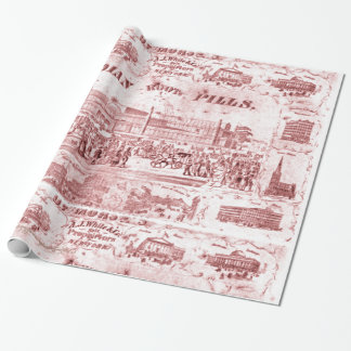 """Vintage-Quackery"" Wrapping Paper"