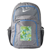 Vintage Quaint Spring Flowers Fabric Look Backpack