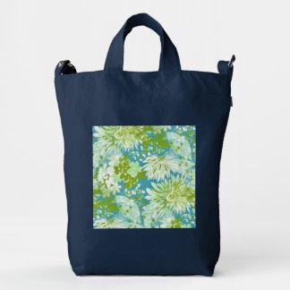 Vintage Quaint Spring Flowers Fabric Look Duck Bag