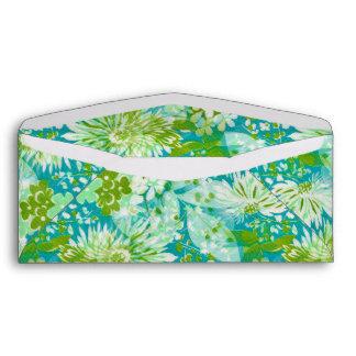 Vintage Quaint Spring Flowers Fabric Look Envelope