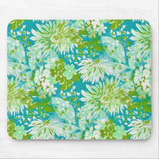Vintage Quaint Spring Flowers Fabric Look Mouse Pad