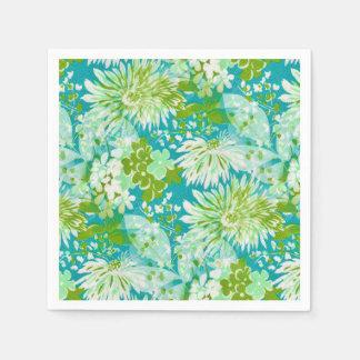 Vintage Quaint Spring Flowers Fabric Look Napkin