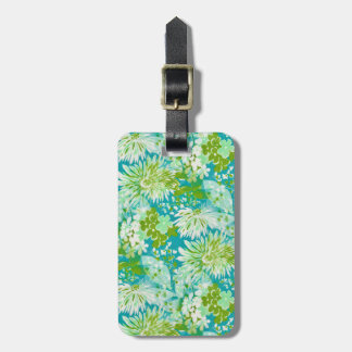 Vintage Quaint Spring Flowers Fabric Look Tag For Luggage