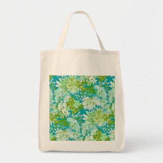 Vintage Quaint Spring Flowers Fabric Look Tote Bag