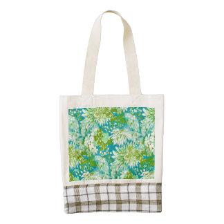 Vintage Quaint Spring Flowers Fabric Look Zazzle HEART Tote Bag