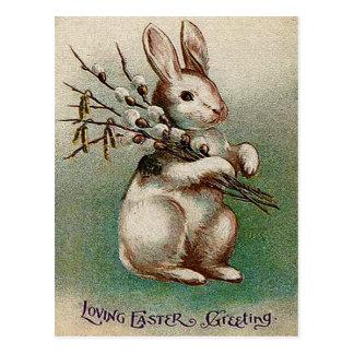 Vintage que ama el saludo de Pascua Postal