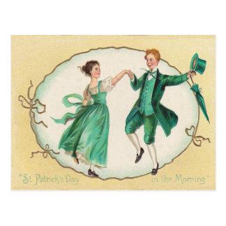 Vintage que baila la tarjeta del día de St Patrick Postales