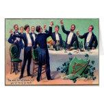 Vintage que bebe la tarjeta del día de St Patrick