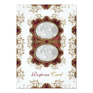"""Vintage que casa el oro """"tarjetas de Borgoña de la Anuncios"""