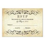 """Vintage que casa Flourish elegante de las postales Invitación 3.5"""" X 5"""""""