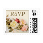 Vintage que casa RSVP, flores de los rosas del Sello