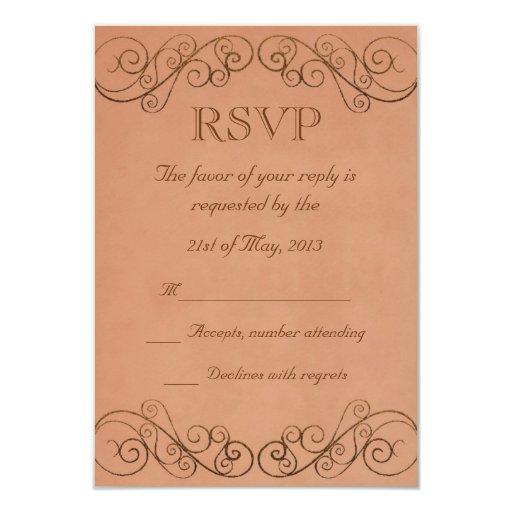 Vintage que casa RSVP Invitacion Personalizada