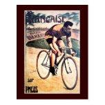 Vintage que completa un ciclo la bicicleta gráfica postales