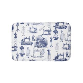 Vintage que cose la alfombra de baño de Toile