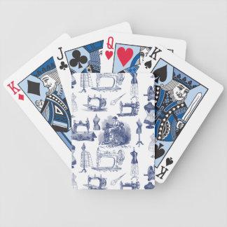 Vintage que cose Toile Baraja Cartas De Poker