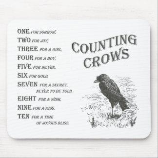 Vintage que cuenta la rima Mousepad del cuervo