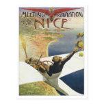 Vintage que encuentra D'aviation Niza Postales