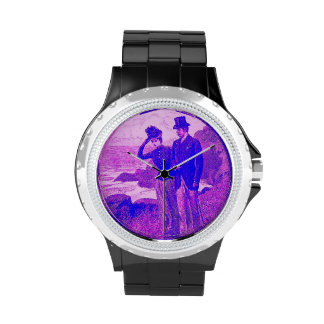 Vintage que graba el reloj romántico