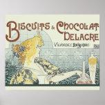Vintage que hace publicidad del arte Nouveau de Ch Póster
