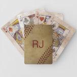 Vintage que mira béisbol con Monogra de encargo Baraja Cartas De Poker