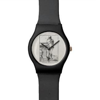 Vintage que piensa la anatomía médica esquelética  relojes de pulsera